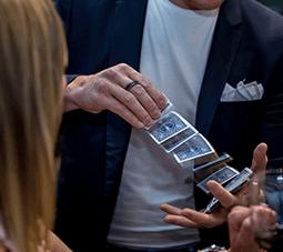 Matt Gore shuffling cards